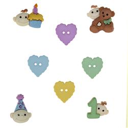 Dress It Up Embellishment Buttons  Babys First Birthday