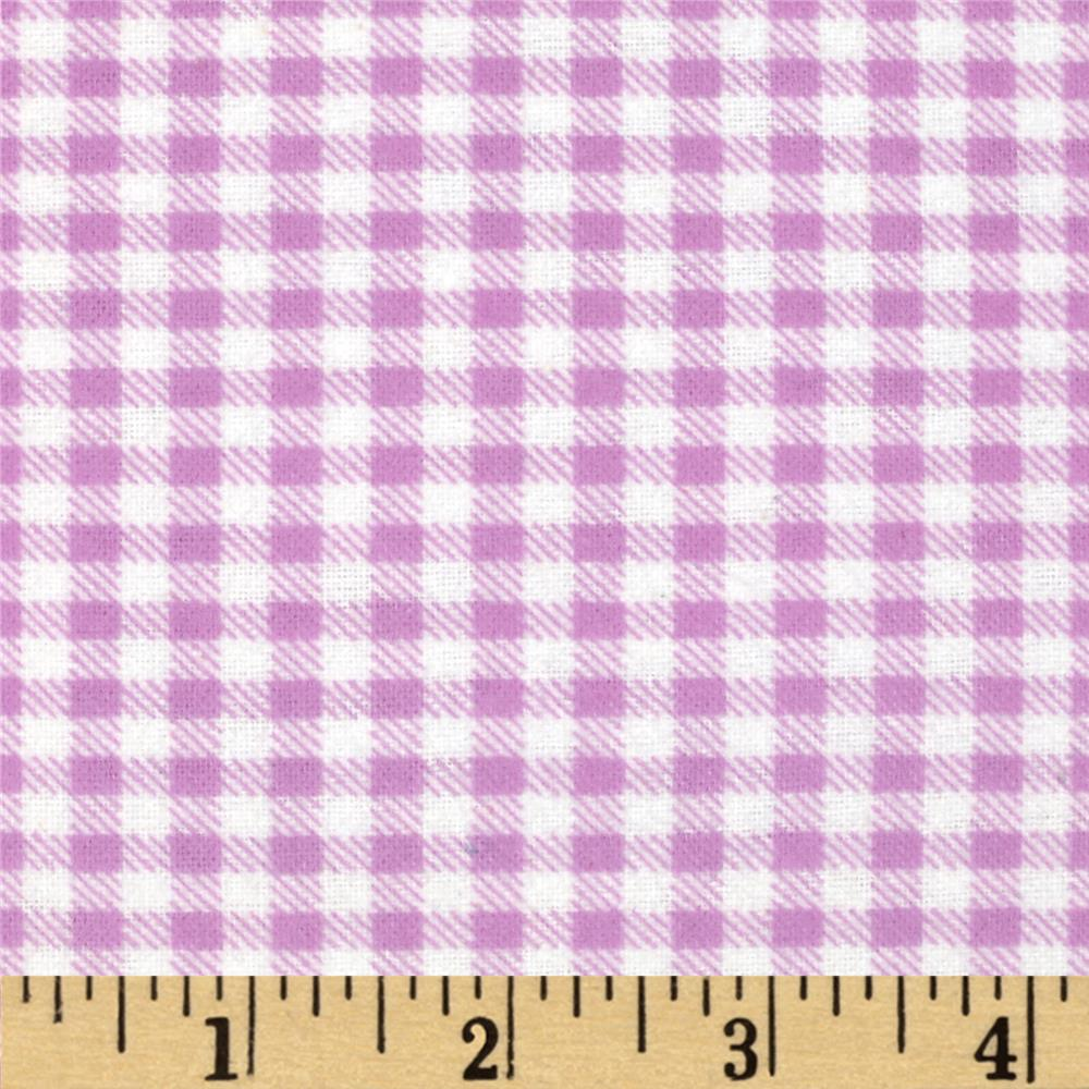 Aunt Polly's Flannel Gingham Mauve/White