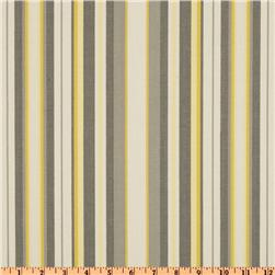 Duralee Home Nalani Stripe Grey/Lemon