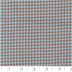 Woven 1/8'' Cotton Gingham Blue/Brown