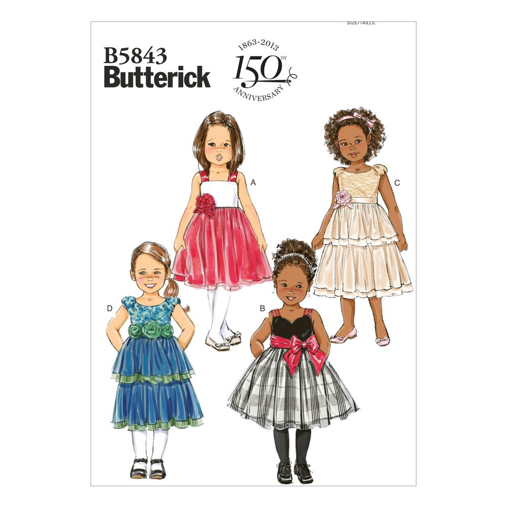 Butterick Toddlers'/Children's Dress Pattern B5843 Size CCB