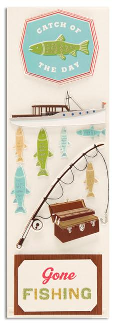 Martha Stewart Crafts Stickers Fishing