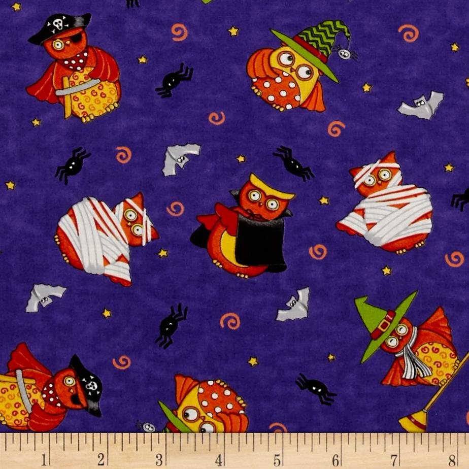 Moda Midnight Masquerade Tossed Owl Fun Pirate Purple