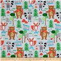 Camping Club Woodland Animals Light Grey