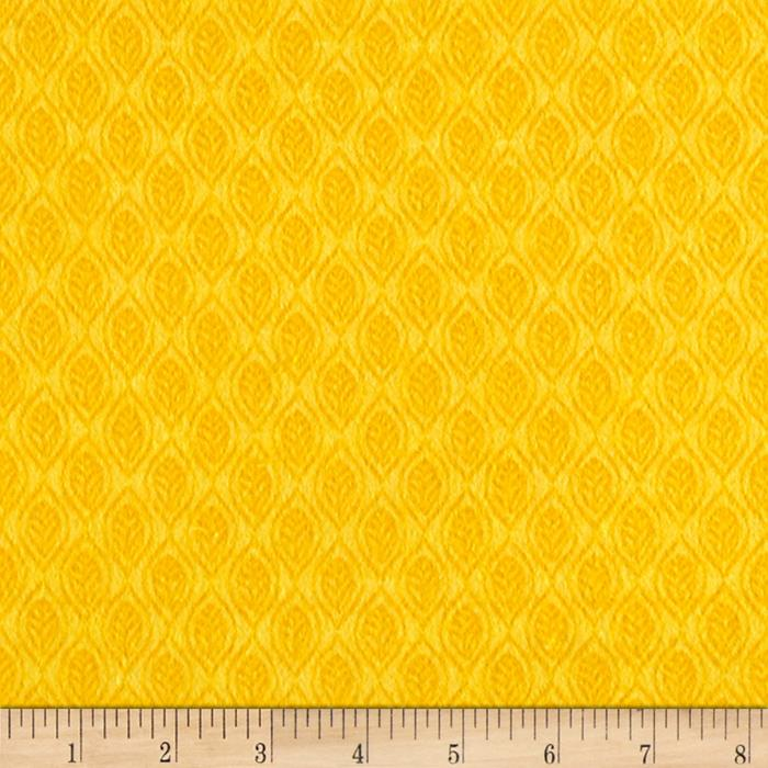 Classic Cottons Jungle Power Flannel Tonal Leaves Yellow