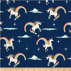 Riley Blake Novelty Unicorn Main Navy