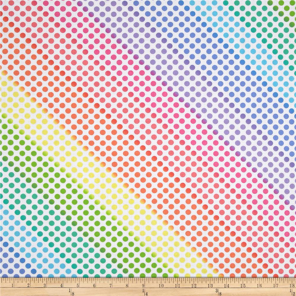 Kanvas kat tastic rainbow dot pastel discount designer for Fabric material for sale