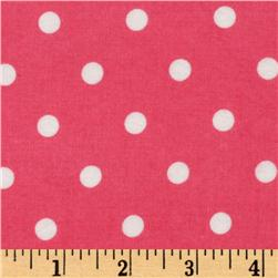 Cozy Cotton Flannel Polka Dot Hot Pnk