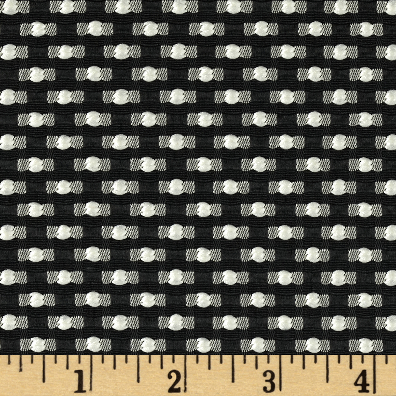 Betty Jacquard White/Black Fabric