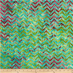 Moda One For You, One For Me Batiks Zig Zag Agean Blue