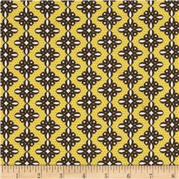 Birds and Blooms Spiro Brown Fabric