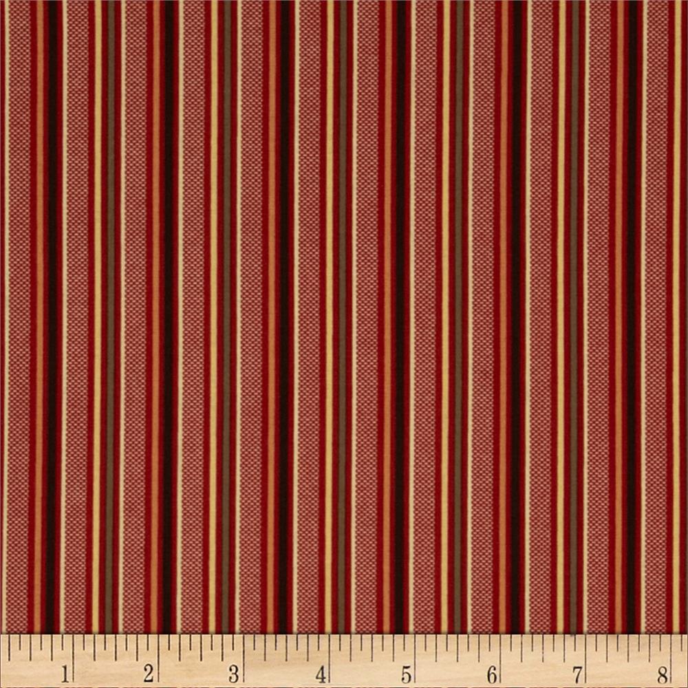 Retro Geo Stripe Burgundy