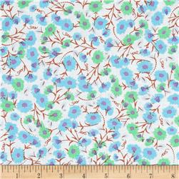 Fun Florals Aqua/Blue