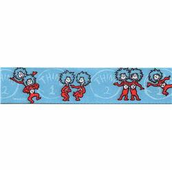 "7/8"" Dr. Seuss Thing One Thing Two Ribbon Blue"
