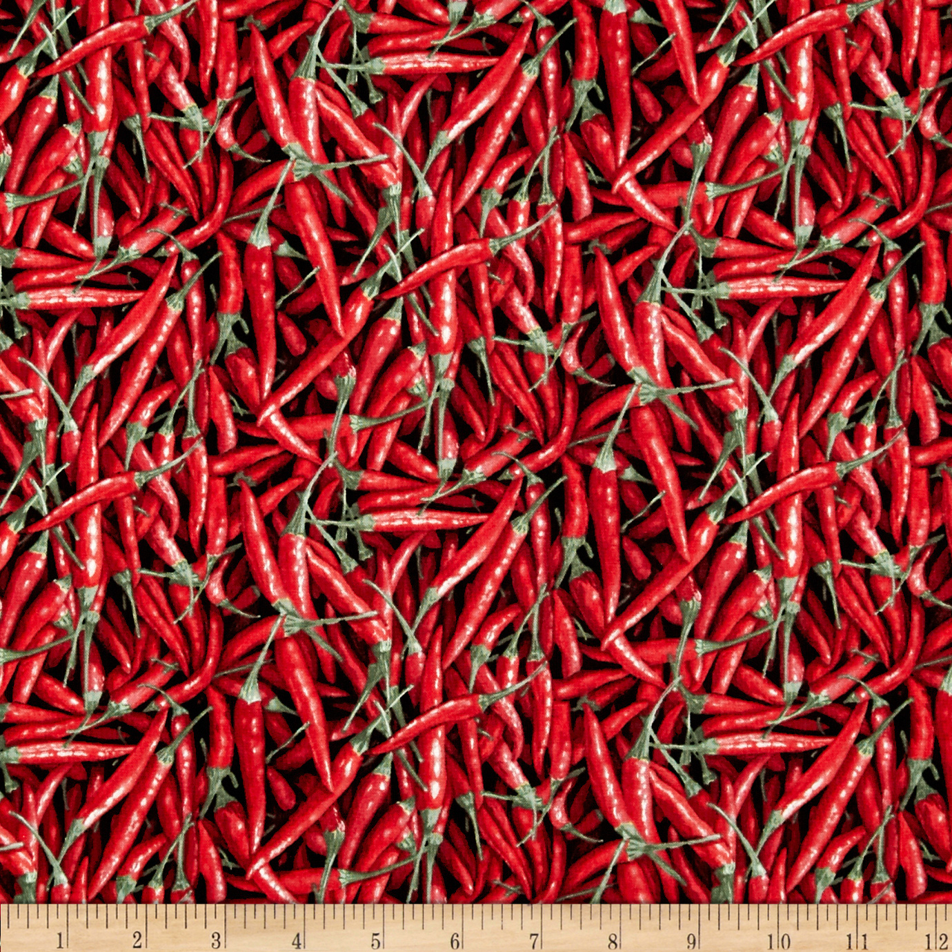 Farmer John's Organic Chili Peppers Red Fabric