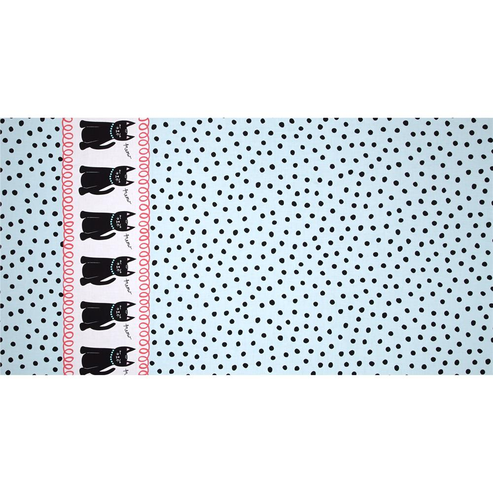 Michael Miller Cool Cats Cats & Dots Aqua
