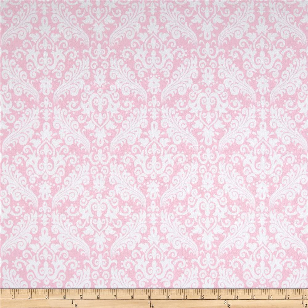 Riley Blake Flannel Medium Damask Baby Pink