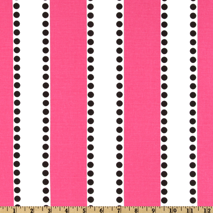 Premier Prints LuLu Stripe Candy Pink/Black Fabric
