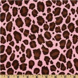 Minky Cuddle Plush Jaguar Brown/Hot Pink