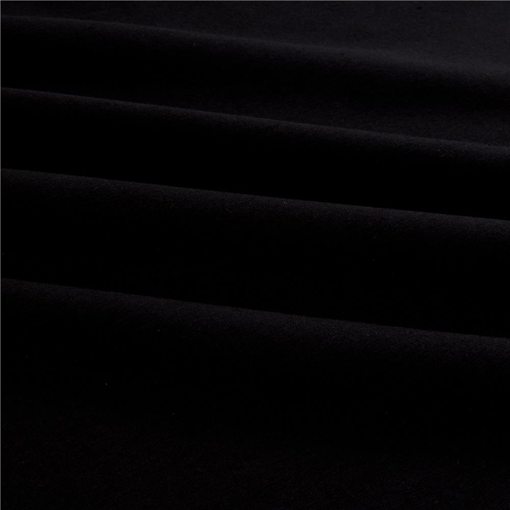 Cotton Lycra Spandex Jersey Knit Black Fabric By The Yard