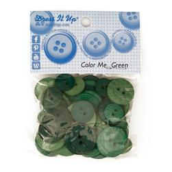 Dress It Up Color Me Collection Buttons Green