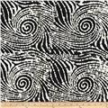 Indian Batiks Scrolls Black/White