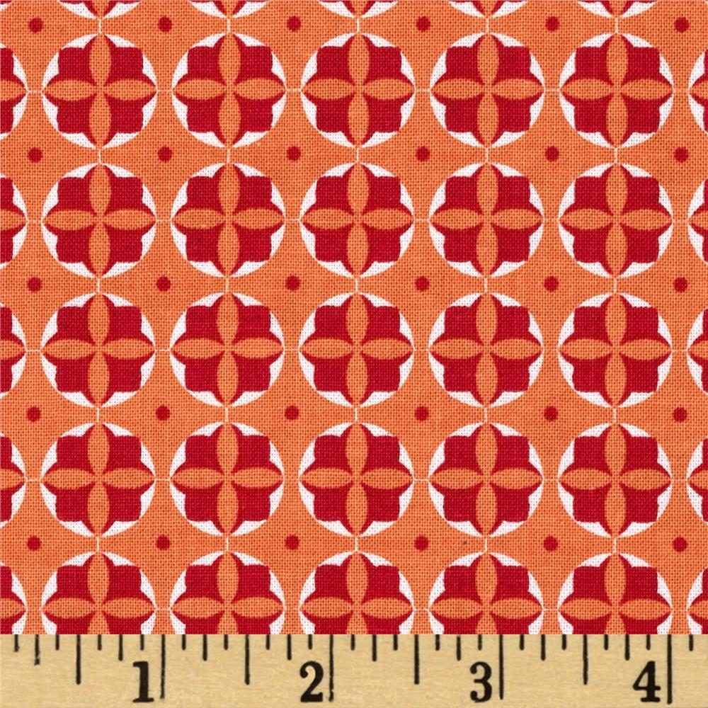 Riley Blake Modern Minis Circles Orange