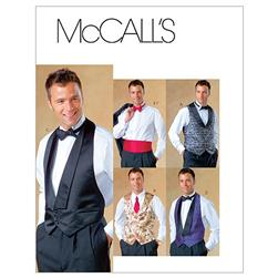 McCall's Men's Lined Vests, Bow Tie and Cummerbund