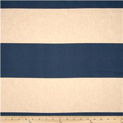 Premier Prints Cabana Stripe Blend Laken Indigo Fabric