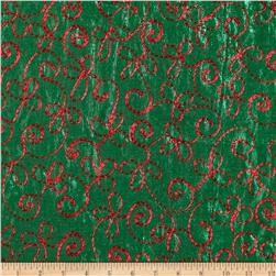 Holiday Blitz Embroidered Green/Red