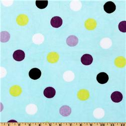 Kaufman Minky Cuddle Jumbo Dot Tiffany/Violet