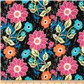 Art Gallery Jungle Ave Voile Floral Asphalt