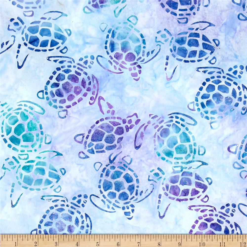 Michael Miller Batik Sea Turtles Dusk