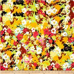 Stretch ITY Knit Multi Yellow Floral