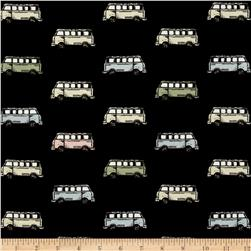 Vintage Scrapbook Mini Vans Black