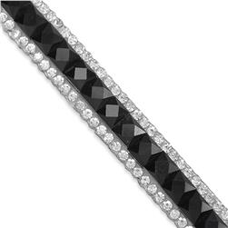"3/8"" Rhinestone & Glass Banding Black"