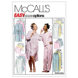 McCall's Misses' Robe, Nightgown Or Top and Pull-On Pants Or Shorts Pattern M2476 Size 0Y0
