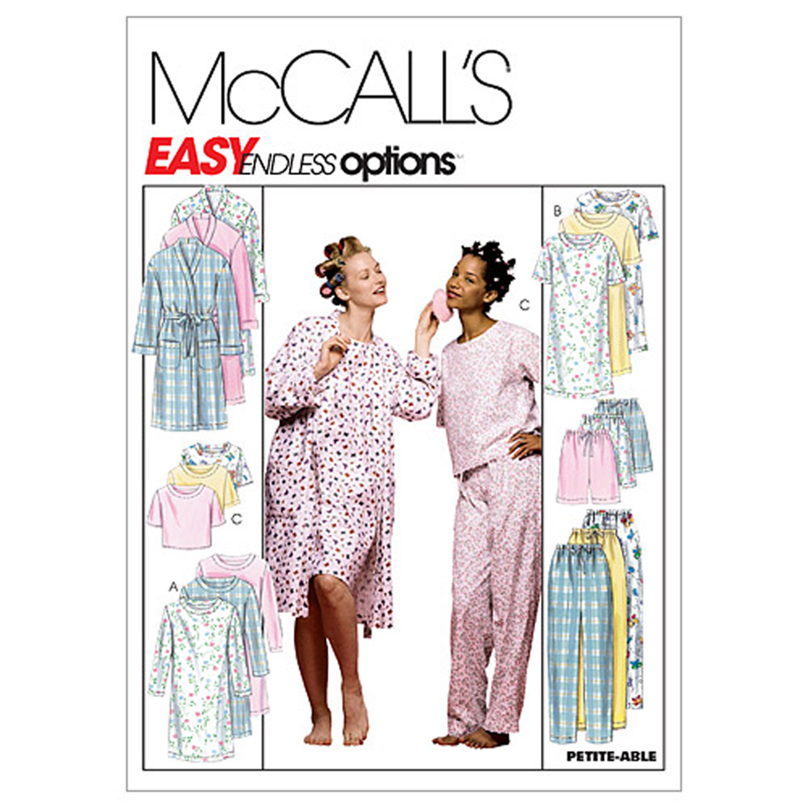 McCall's Misses' Robe Nightgown Or Top and Pull-On Pants Or Shorts Pattern M2476 Size 0Y0 by Kwik Sew in USA