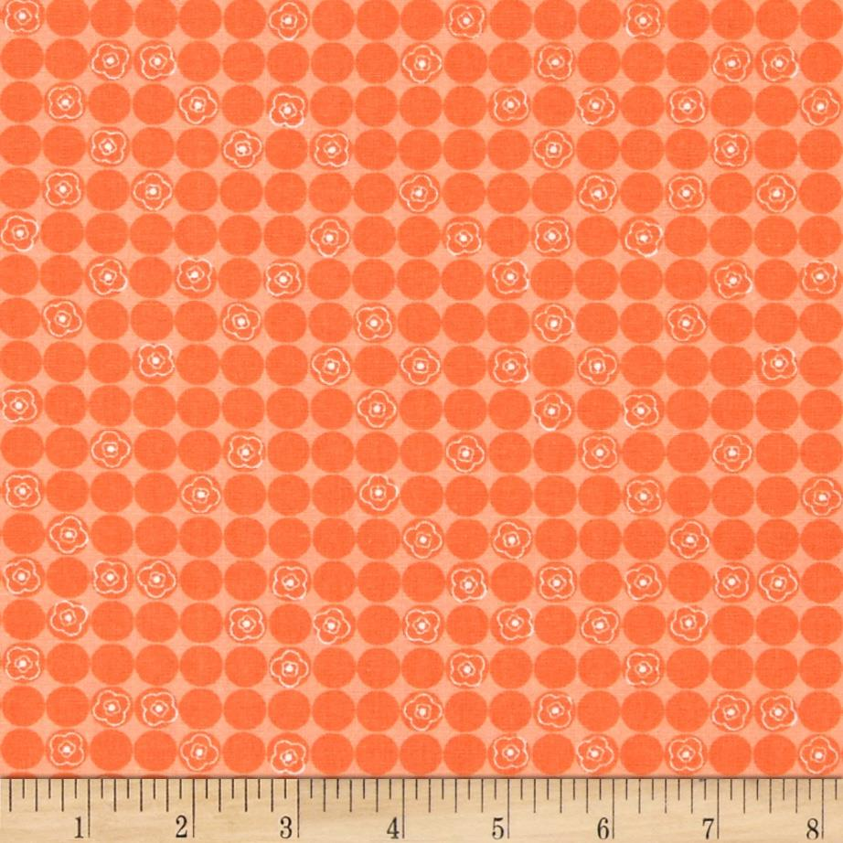 Valencia Tossed Daisy Dots Orange