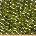 Indian Batik Hollow Ridge Dots  Olive/Natural