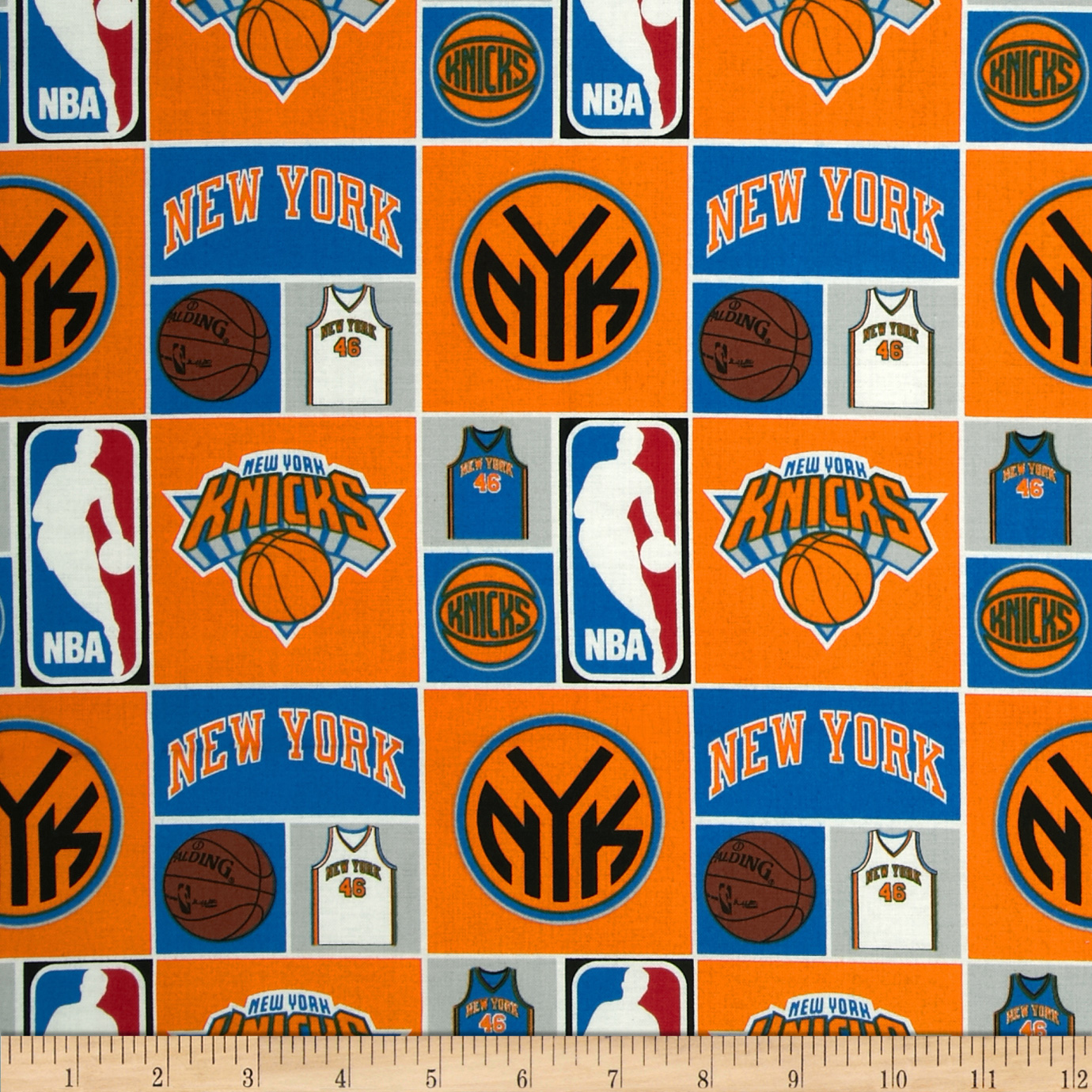 NBA Cotton Broadcloth NY Knicks Multi Fabric