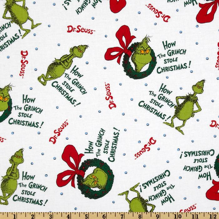 How The Grinch Stole Christmas Grinch in a Wreath Holiday White