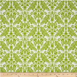 Riley Blake Medium Damask White/Lime