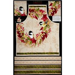 A Colorful Season Apron Panel Cream