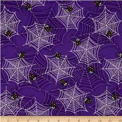 Fangtastic Glow In The Dark Spiders & Webs Purple