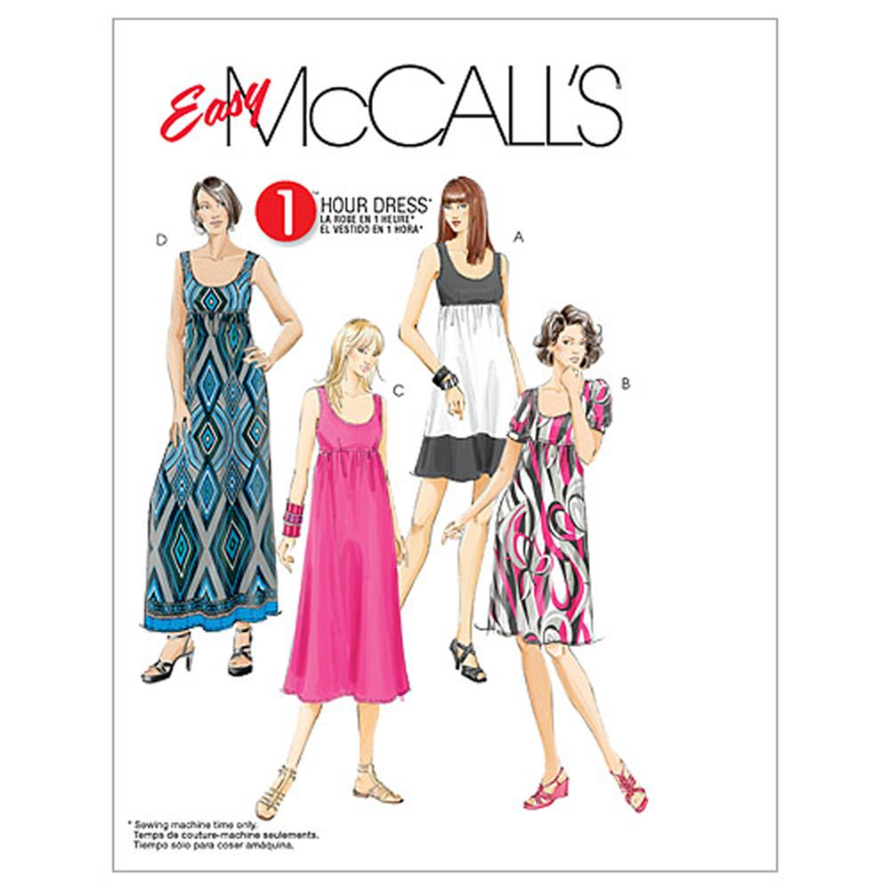 McCall's Misses'/Women's Dresses In 4 Lengths Pattern M5893 Size B50