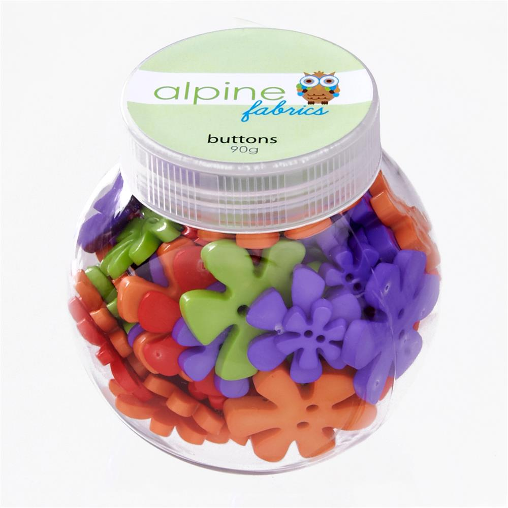 Alpine Button Jar Flower Pretty