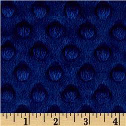"Shannon Minky Cuddle Dimple Dot 90"" Midnight Blue"