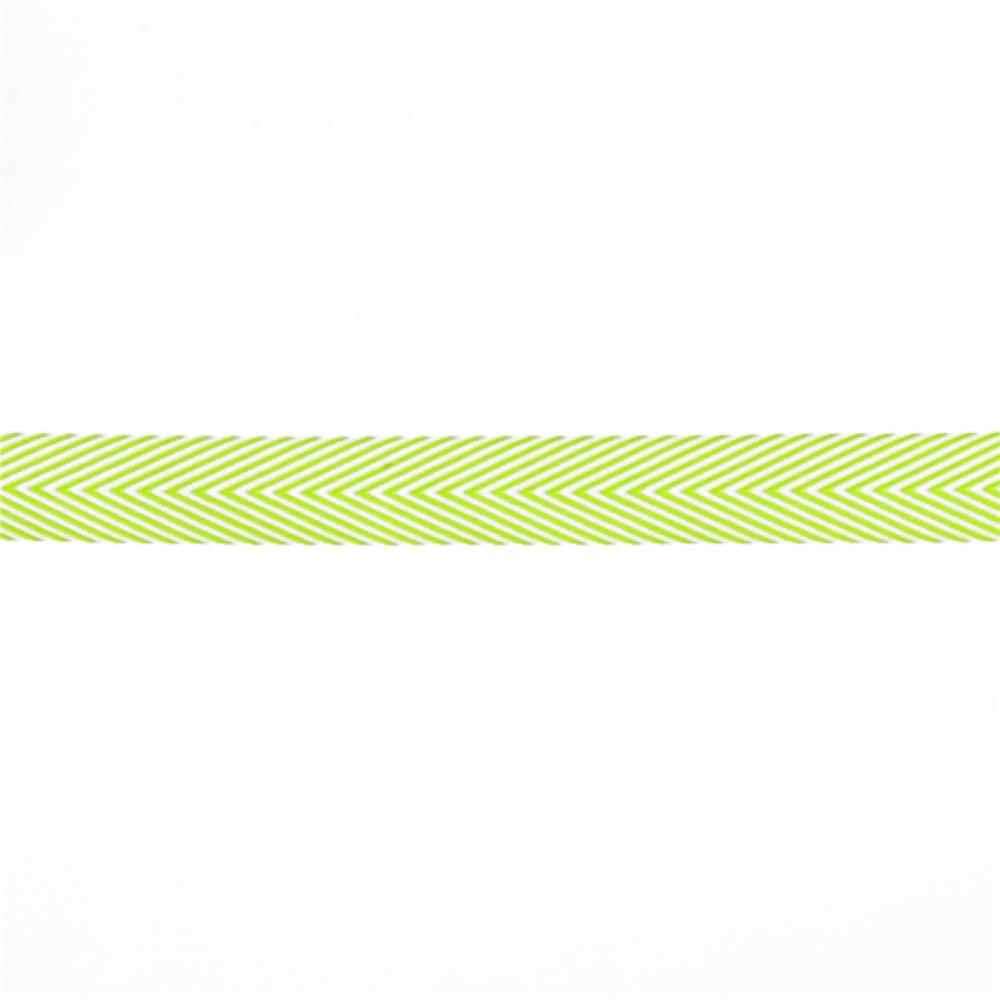"3/4"" Twill Tape Chevron Stripes Celery"