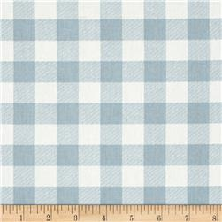 Premier Prints Plaid Twill Weathered Blue